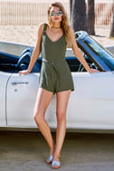 Sunny Melody Olive Green Romper 5
