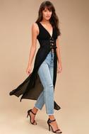 Leticia Black Lace-Up Maxi Top 3