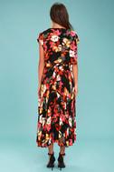 Free People Sundown Black Floral Print Two-Piece Dress 3