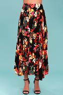 Free People Sundown Black Floral Print Two-Piece Dress 5