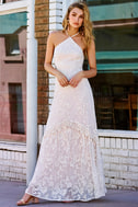 Aspyn Cream Crochet Lace Maxi Dress 5