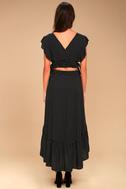 Free People Pretty Daze Black Polka Dot Two-Piece Dress 3