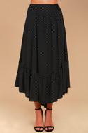Free People Pretty Daze Black Polka Dot Two-Piece Dress 5