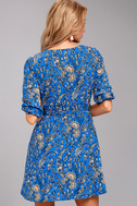 Jack by BB Dakota Hugh Blue Print Wrap Dress 3