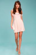Lucy Love Celebration Blush Pink Skater Dress 1