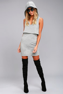 Dancing in the Streets Heather Grey Hoodie Dress 2