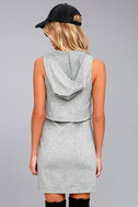 Dancing in the Streets Heather Grey Hoodie Dress 3