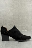 Vancouver Black Suede Ankle Booties 3