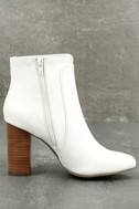 MIA Rosebud White Ankle Booties 3