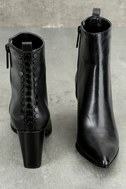 Kendall + Kylie Felix Black Leather Ankle Booties 3