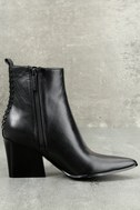 Kendall + Kylie Felix Black Leather Ankle Booties 2