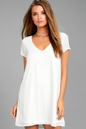 Freestyle White Shift Dress 3