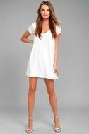 Freestyle White Shift Dress 2