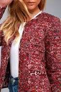 Tavik Enigma Wine Red Print Reversible Quilted Jacket 5