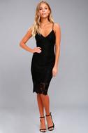 Extraordinary Love Black Lace Midi Dress 2