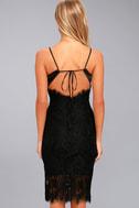 Extraordinary Love Black Lace Midi Dress 4
