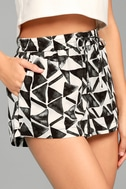 BB Dakota Franco White Print Shorts 3