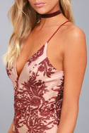Finders Keepers Spectral Burgundy Lace Maxi Dress 4