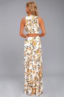 Ali & Jay Bohemian Rhapsody Cream Floral Print Maxi Dress 3
