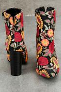 Kupuri Black Embroidered Ankle Booties 2