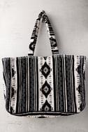 Amuse Society Nash Black Print Tote Bag 2
