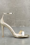All-Star Cast Champagne Ankle Strap Heels 3