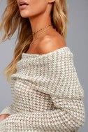 BB Dakota Tegan Beige Off-the-Shoulder Sweater 2