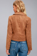 Jack by BB Dakota Johanness Tan Suede Moto Jacket 1