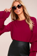 One For the Ages Burgundy Long Sleeve Top 4