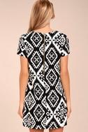 Give Me a Print Black Print Shift Dress 3