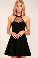 Light and Grace Black Skater Dress 3