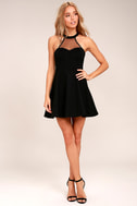 Light and Grace Black Skater Dress 2