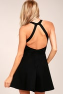 Light and Grace Black Skater Dress 5