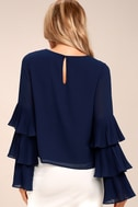 One For the Ages Navy Blue Long Sleeve Top 1