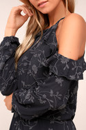 Lucy Love Makeout Charcoal Grey Embroidered Dress 4