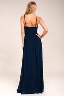 Cherish the Night Navy Blue Lace Maxi Dress 3