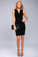 Quite Spectacular Black Bodycon Dress 2