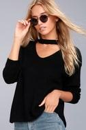 Lost + Wander Madison Black Cutout Sweater 1
