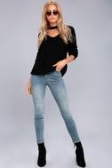 Lost + Wander Madison Black Cutout Sweater 2