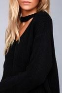 Lost + Wander Madison Black Cutout Sweater 4
