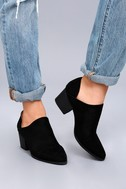 Vancouver Black Suede Ankle Booties 2