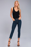 EVIDNT Hermosa Medium Wash Cropped Skinny Jeans 1