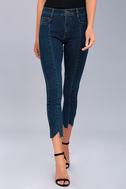 EVIDNT Hermosa Medium Wash Cropped Skinny Jeans 2