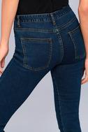 EVIDNT Hermosa Medium Wash Cropped Skinny Jeans 5