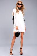 Cherish White Long Sleeve Shift Dress 2