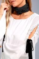 Cherish White Long Sleeve Shift Dress 4