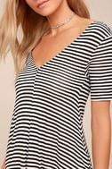 Cheap Monday Disown Black and White Striped Midi Swing Dress 2