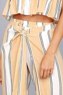 Faithfull the Brand Sands Island Beige Striped Pants 4