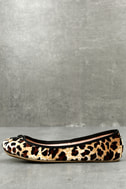 LFL Tinker Leopard Print Velvet Flats 1