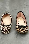 LFL Tinker Leopard Print Velvet Flats 4